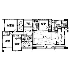【建物本体価格2000万円台/間取り図あり】平屋の快適動線が住み心地いい、遊び心溢れるオンリーワンの家画像4