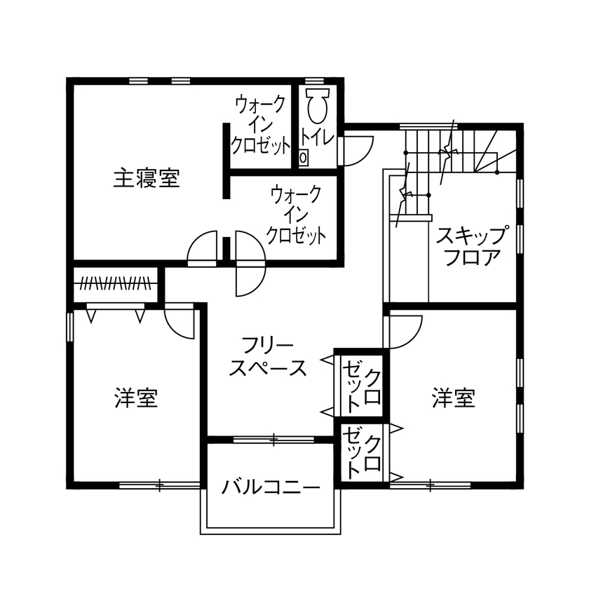 【建物本体価格2100万円/間取り図有】スキップフロアで繋がる空間は「家族がいつも一緒だと感じられます」画像5