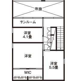 【延床28坪・1945万円】窓がない個性的な外観。室内は明るく、プライベート感満点のシンプルハウス画像5