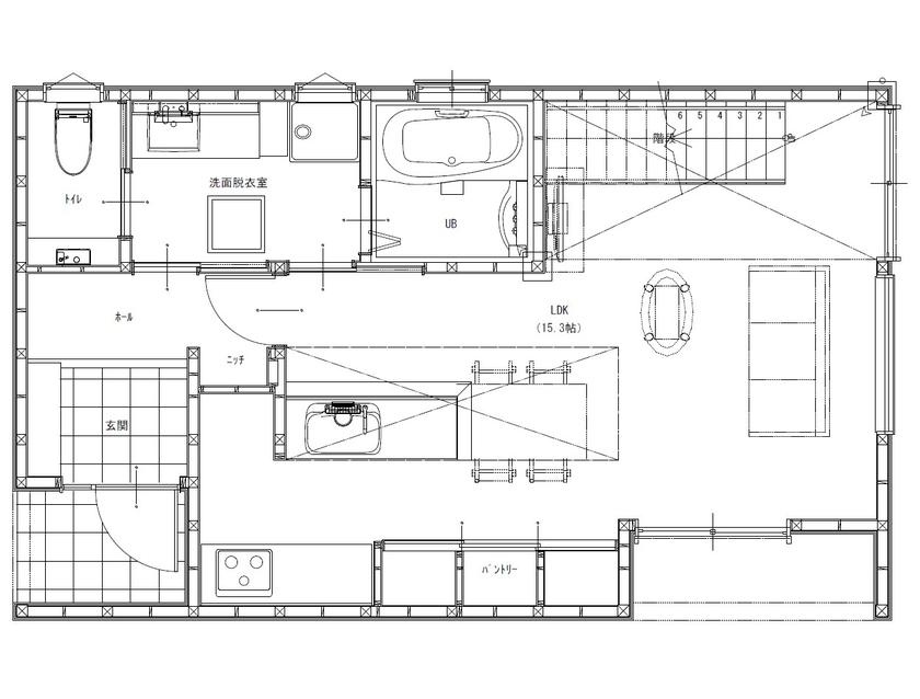 【間取りあり】「小さく建てて、のびのび暮らす」をコンセプトに、外からの視線を遮り、屋内に光を取込む家画像4