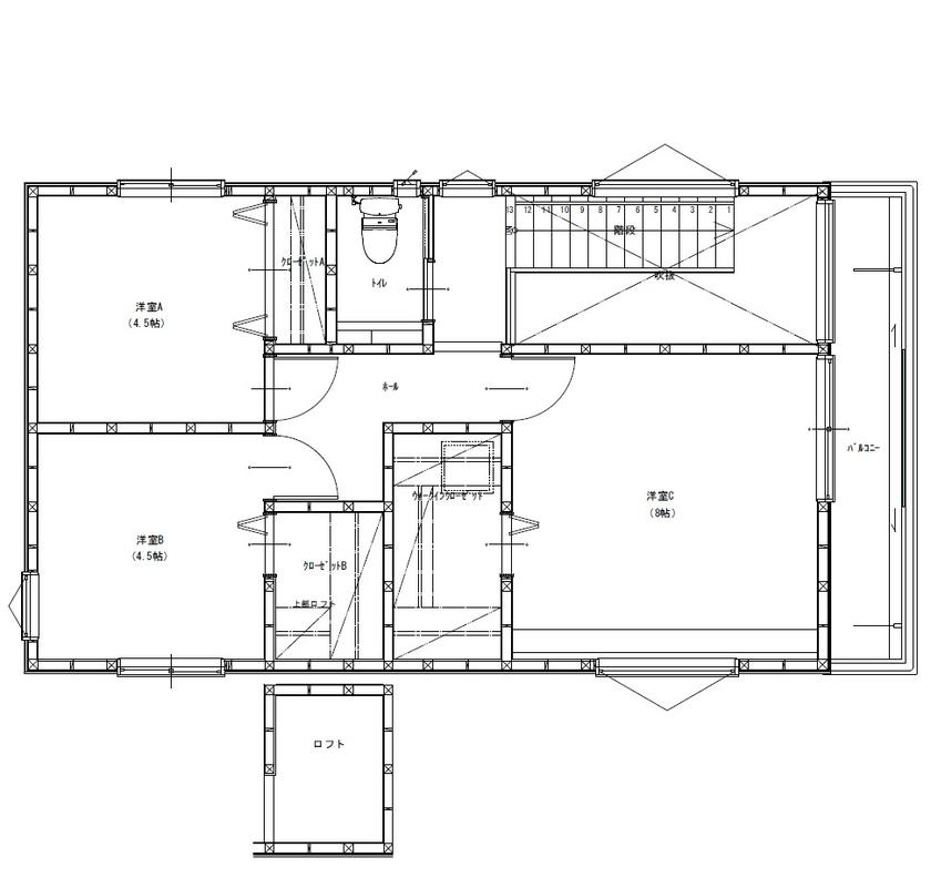 【間取りあり】「小さく建てて、のびのび暮らす」をコンセプトに、外からの視線を遮り、屋内に光を取込む家画像5