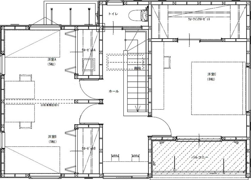 【間取り有/2000万円台前半】敷地に対して建物は斜めに設計。芝生や果樹を育て、森に佇む一軒家のように画像5
