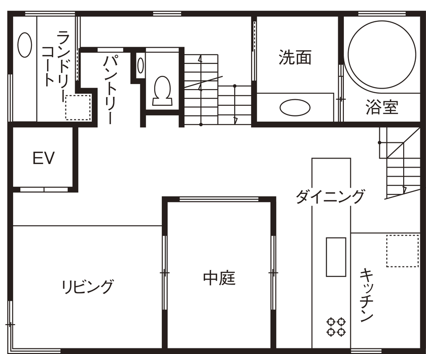 建築家とコラボした5層のステップフロアからなる、こだわりや想いの強いお家画像6
