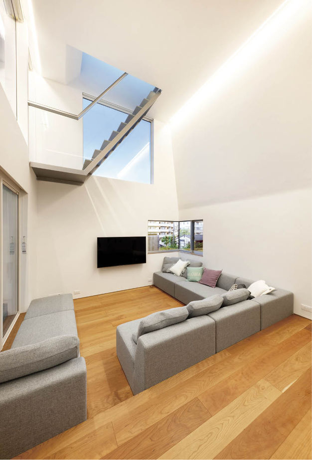 建築家とコラボした5層のステップフロアからなる、こだわりや想いの強いお家画像1