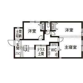 「西区×中庭つき間取り」中庭に20畳超のリビング、土間収納やロフトまで。30坪台の敷地で理想を叶えた家画像4