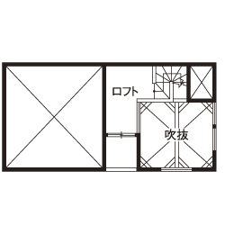 「西区×中庭つき間取り」中庭に20畳超のリビング、土間収納やロフトまで。30坪台の敷地で理想を叶えた家画像6