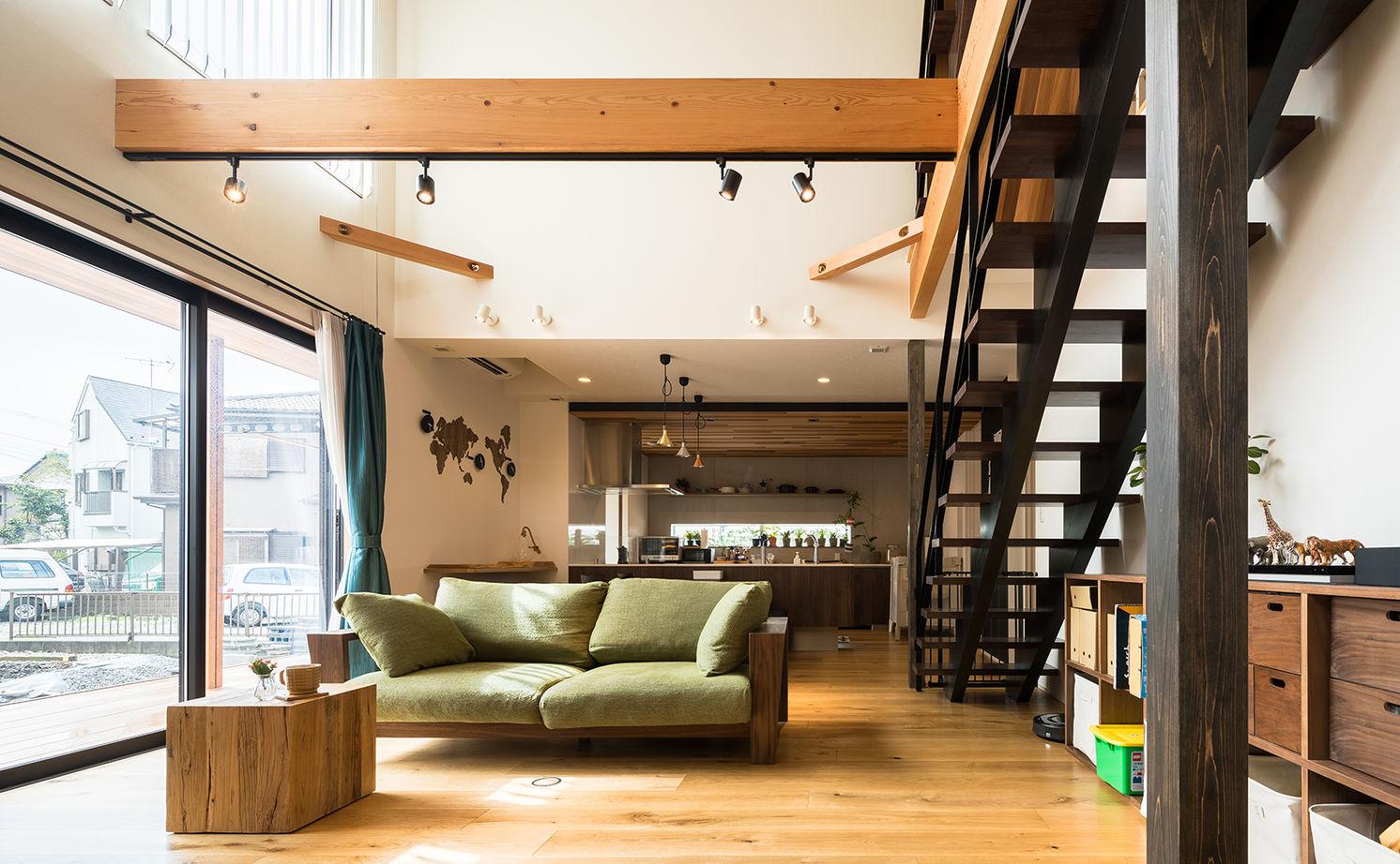 驚くほど開放的なのに「ソーラーサーキット工法」で家の中の隅々まで快適!暮らしを楽しむ遊び心も満載画像1