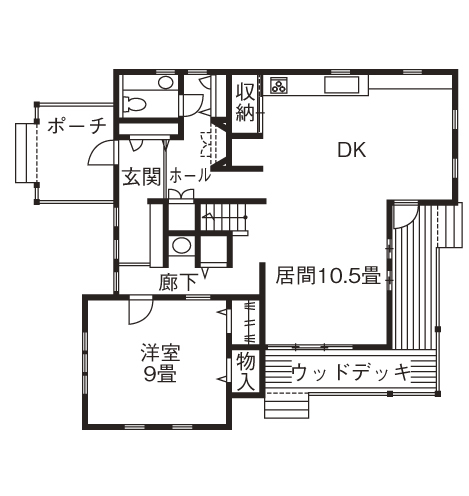 暮らしを彩る大好きなデザイン。青空と花が似合う三角屋根のラップサイディングの家画像4