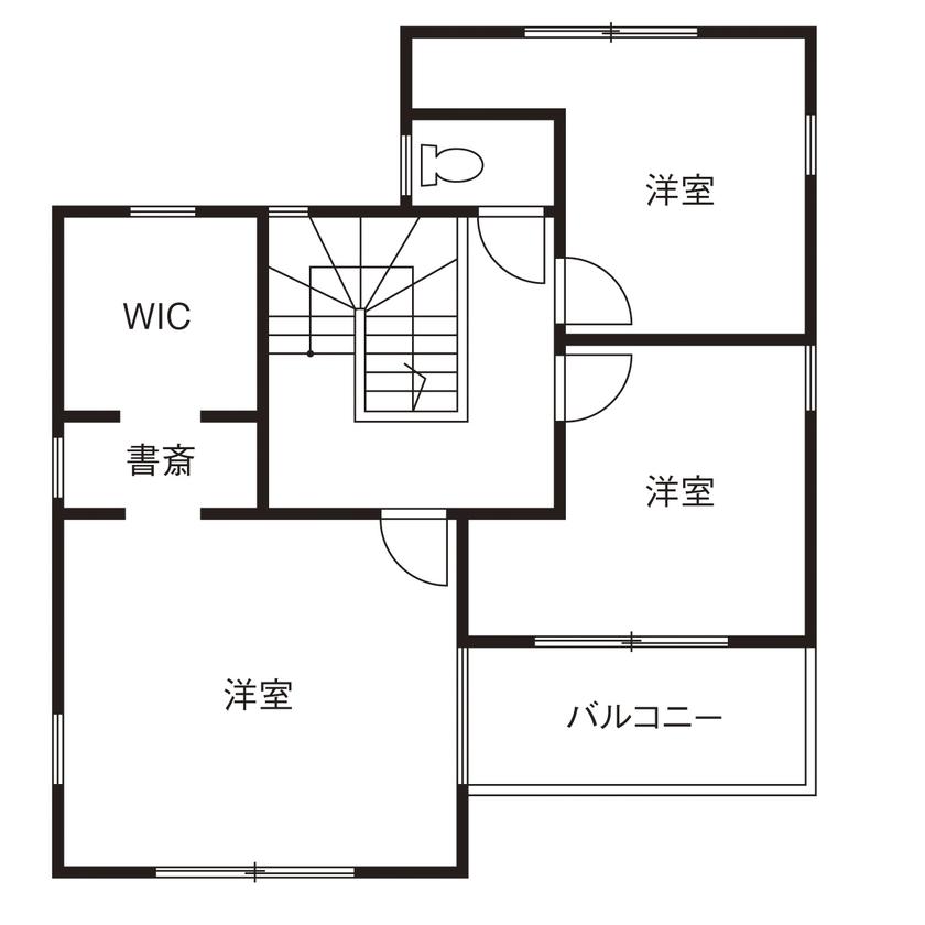 【間取図/無垢床&床暖房/家カフェ風/ヌック】30坪台のコンパクトな家でのびのびと豊かに暮らす画像5