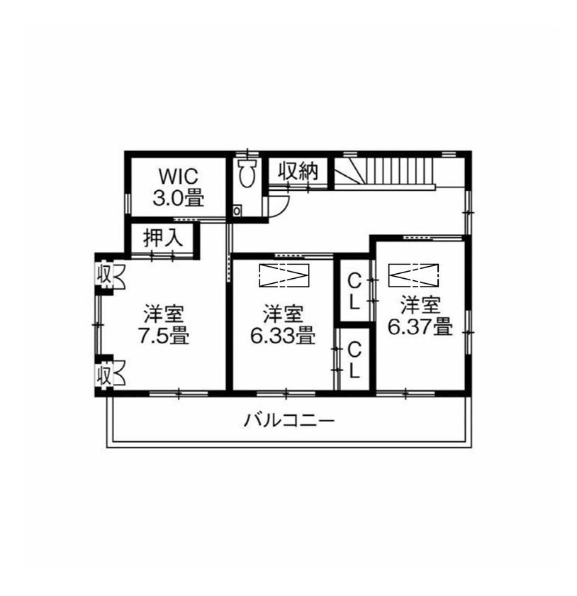 【間取図あり】家族が集まる広々リビングと本格和室。新築の住み心地に、懐かしい家の面影をうつした住まい画像5