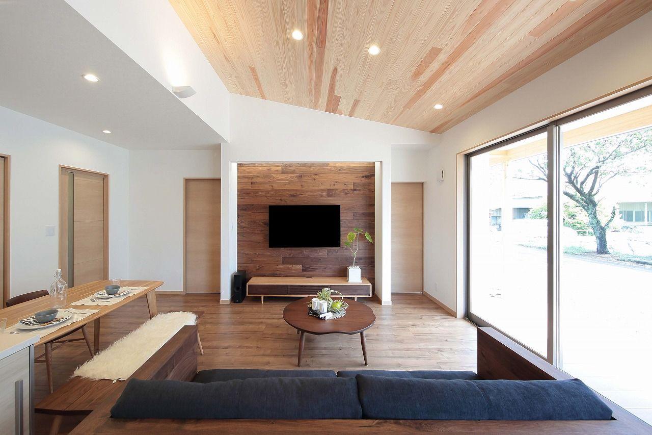 【本体価格2300~2400万円/32.5坪/平屋】室内の木のぬくもり、外の自然の緑に癒される平屋画像2