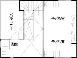 【2000万円台/24坪/狭小/間取り図あり】窓配置と高低差が生み出す心地よさ。狭小地でも明るい3階建て画像6