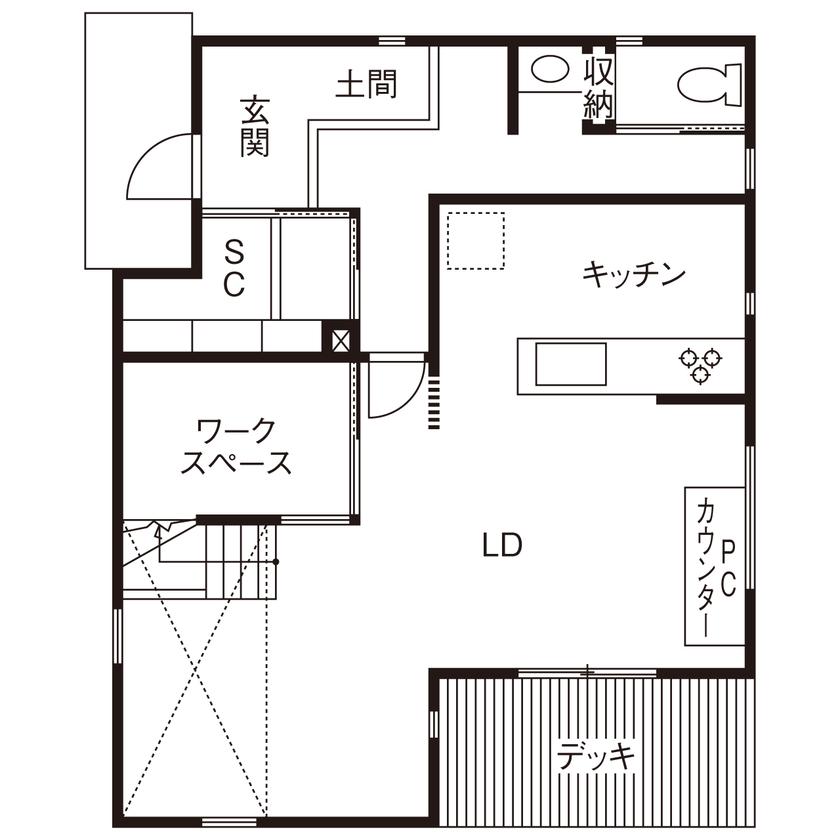 【間取り有】【30坪台/2000万円台】カッコよく、居心地がいい!ランドリールームで家事もスマートに画像4