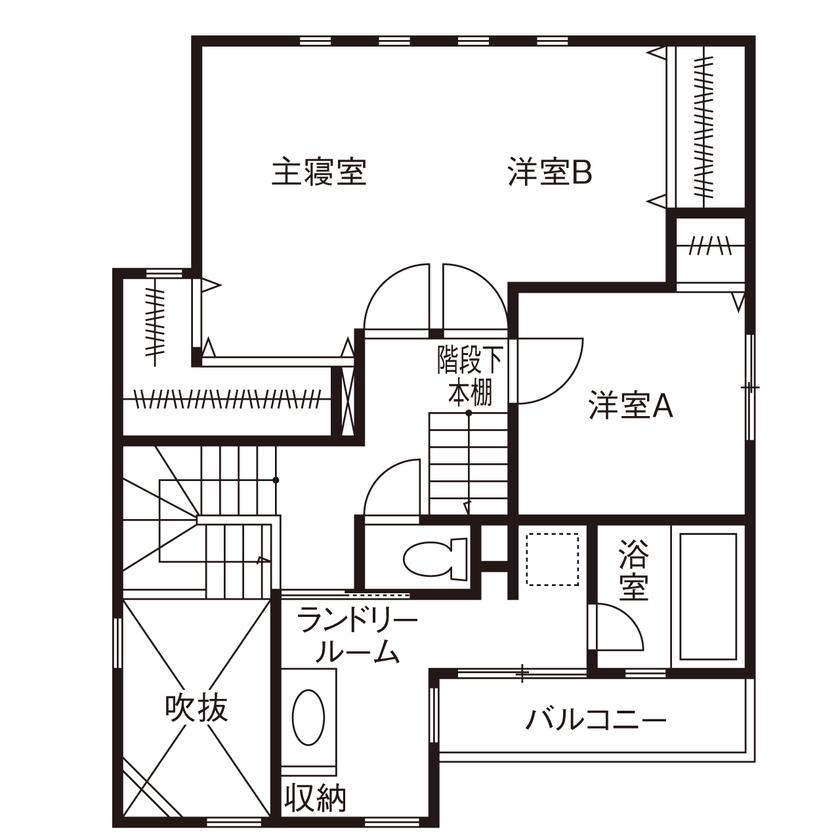 【間取り有】【30坪台/2000万円台】カッコよく、居心地がいい!ランドリールームで家事もスマートに画像5