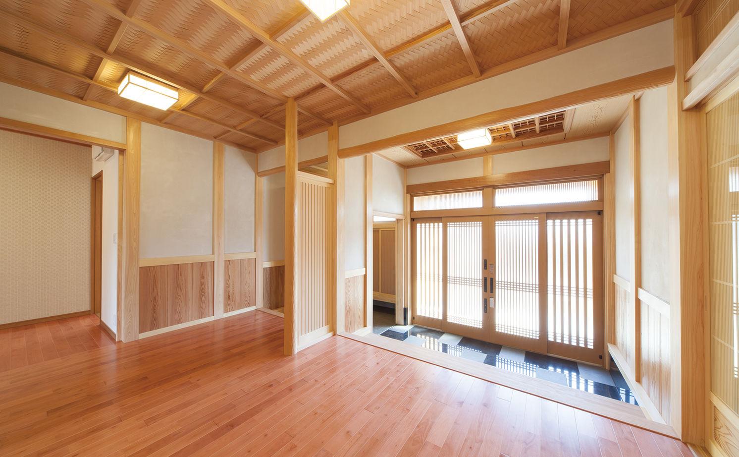 日本建築の文化と伝統を継承し、末永く住むほど味わいが出る、頑丈な無垢木材で建てた平屋の家画像2
