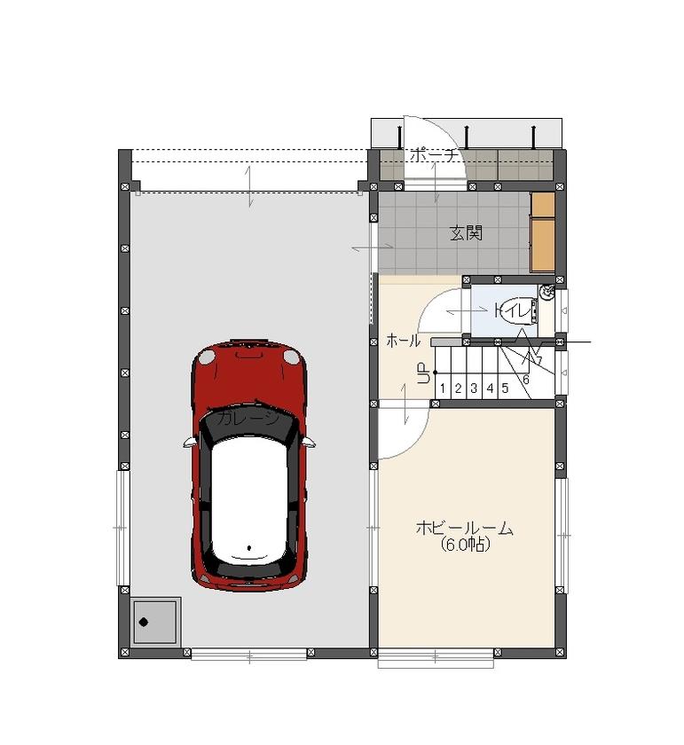 【1500万円×ガレージハウス×吹き抜け】夏涼しく冬暖かい「高性能省エネ」の3階建て住宅画像4