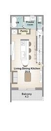 間取りのポイントは、キッチンを中心に家族が集まるLDK。北欧風のあたたかみのあるおしゃれなデザインで画像5
