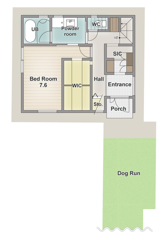 豊中で、変形地を活かしてドッグラン!ペット専用の覗き窓やカフェテラスもある、愛犬と楽しく暮らせる家画像4