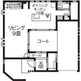 【2900万円/中庭】中庭を通して視線が繋がる インナーガレージのある家画像4