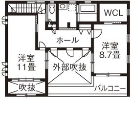 【2900万円/中庭】中庭を通して視線が繋がる インナーガレージのある家画像5