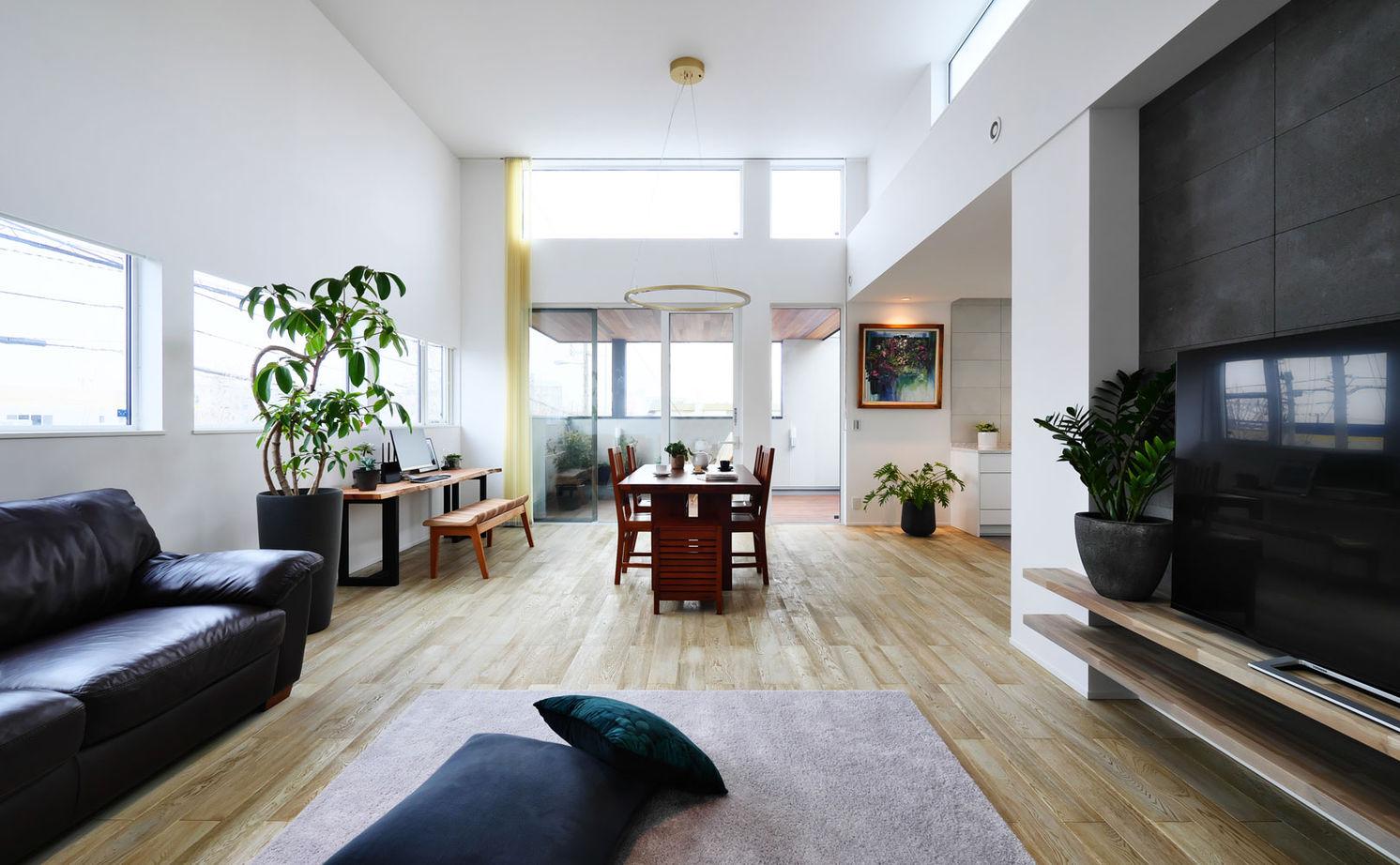 【2750万円/北向き】二階リビングで高天井を実現 緑と暮らすアウトドアリビングのある家画像2