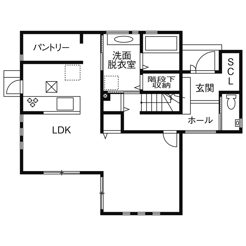 【1700万円台/110.95平米/間取り図あり】暮らし易くシンプルな家を希望  豊富な収納と家事動線に配慮した家画像4