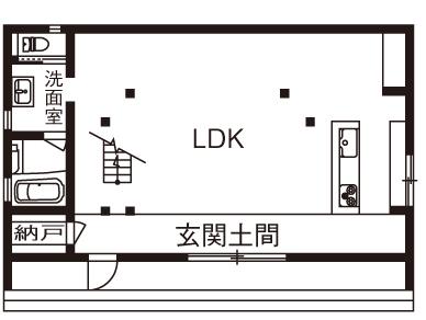 【2280万円】玄関土間から間仕切りなしで広がる吹き抜けのLDK。倉庫風の外観デザインが印象的画像4