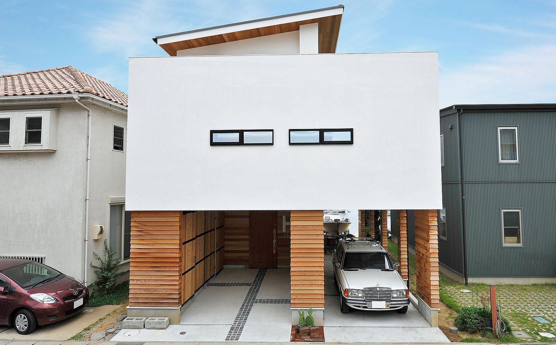 「ガレージハウス」「屋上庭園」と趣味にこだわったビルトインガレージの家【間取り有】画像1