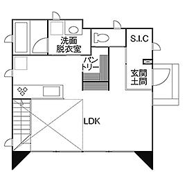 【1950万円/間取り図あり】好みのインダストリアル系に仕上げた、お子さんにも優しい自然素材の家画像4