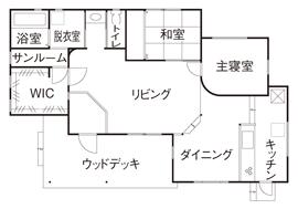 [京都・~1500万円・30坪以下・駐車場有]無垢材、漆喰などをふんだんに使った平屋の実例(間取り有)画像4