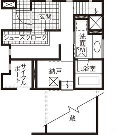 20坪の敷地で広く暮らす工夫が満載。ビルトインガレージや大収納空間「蔵」画像4