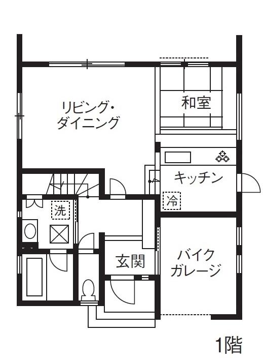 【1500万円】【間取り有】土地探しから依頼して予算内で形に。バイクガレージのあるシンプルモダンな家画像4