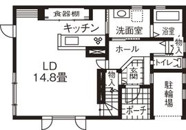 【1500万円~2000万円】倉庫のような外観が印象的 毎日の暮らしを楽しむわが家画像4