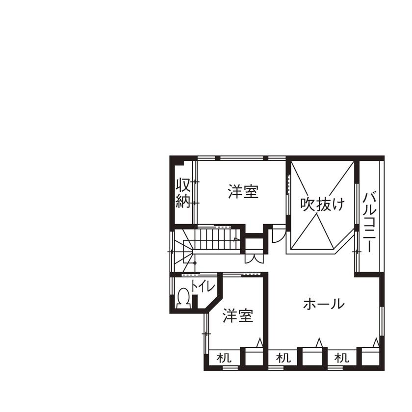 【2000~2500万円】「平屋」風スキップフロアの「ガレージハウス」。空間をタテに広げ、面積以上の開放感!画像5