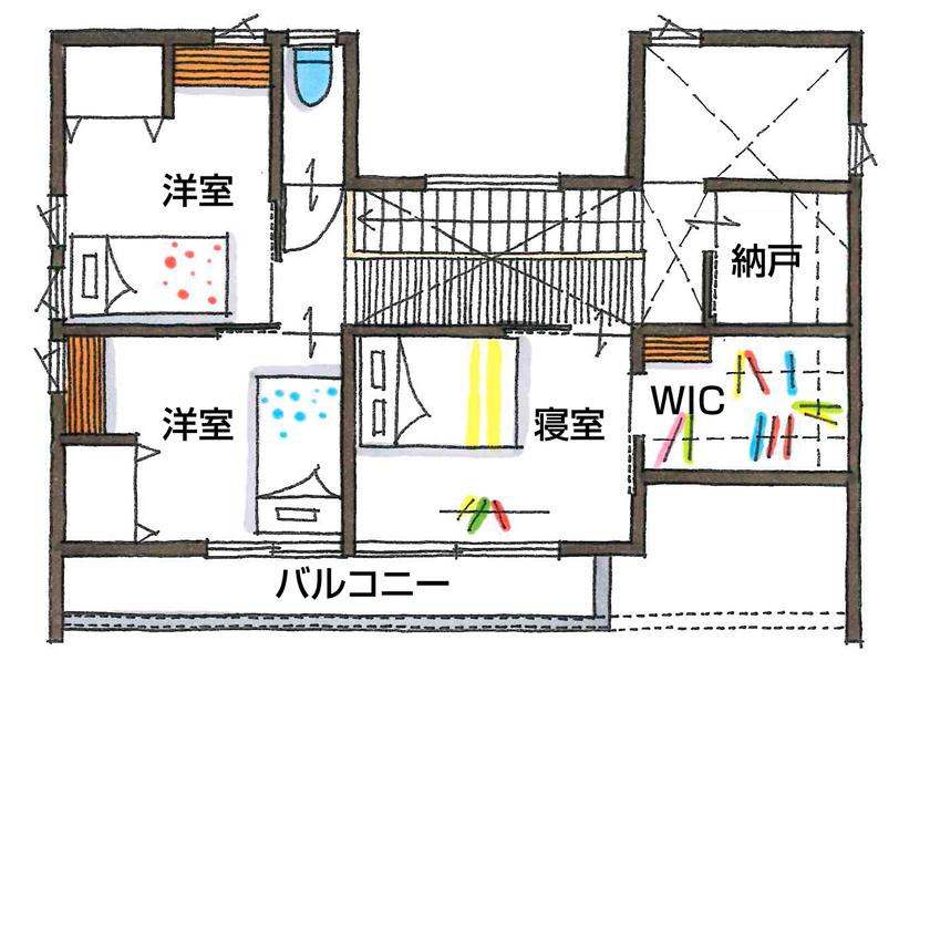 【2000~2500万円/間取り図有】インダストリアル×鉄骨階段のアートな棚。常識を覆す仕掛けがカッコいい!画像5