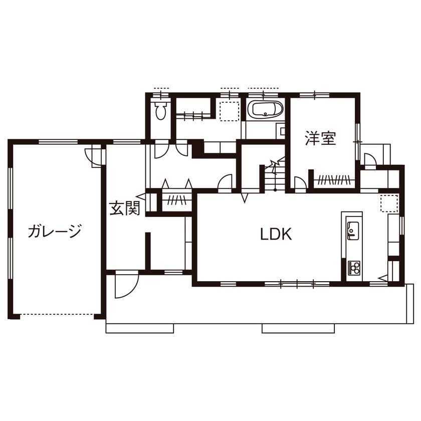 【滋賀県東近江市×2000万円台】ビルトインガレージのあるカリフォルニアスタイルの家画像4