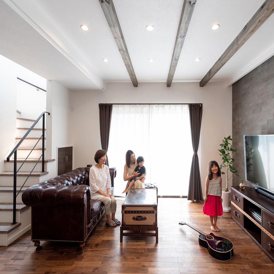 【和歌山/2000万円台/45坪/間取り図有】程よい距離感を保った居心地の良い2世帯同居スタイル画像1