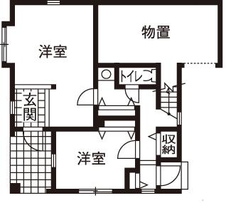 【1000万円台/間取図】1000万円台の予算以上に大満足!個性が光る輸入住宅画像4
