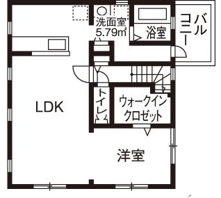 【1000万円台/間取図】1000万円台の予算以上に大満足!個性が光る輸入住宅画像5
