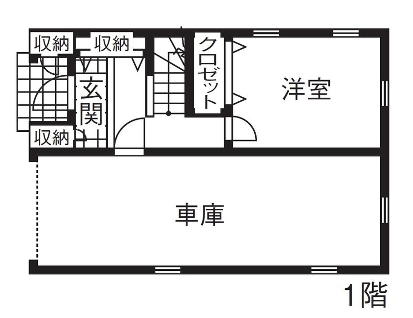 【1000万円台/間取図】海外ドラマに出てくるような優美な3階建ての輸入住宅画像4