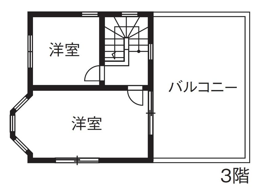 【1000万円台/間取図】海外ドラマに出てくるような優美な3階建ての輸入住宅画像6