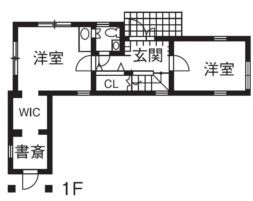 【1000万円台/間取図/変形地】細長いL字の個性的な土地に屋上付きの可愛い3階建て画像4