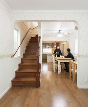 【1000万円台/間取図/変形地】細長いL字の個性的な土地に屋上付きの可愛い3階建て画像3