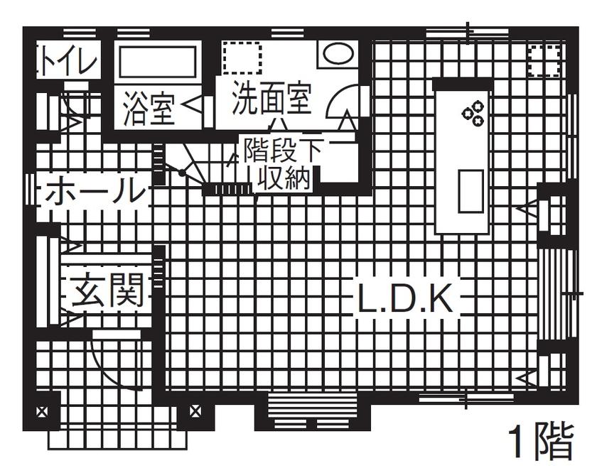 【1000万円台/間取図】レトロとモダンが調和。お気に入りのインテリアで仕上げる本格輸入住宅画像4