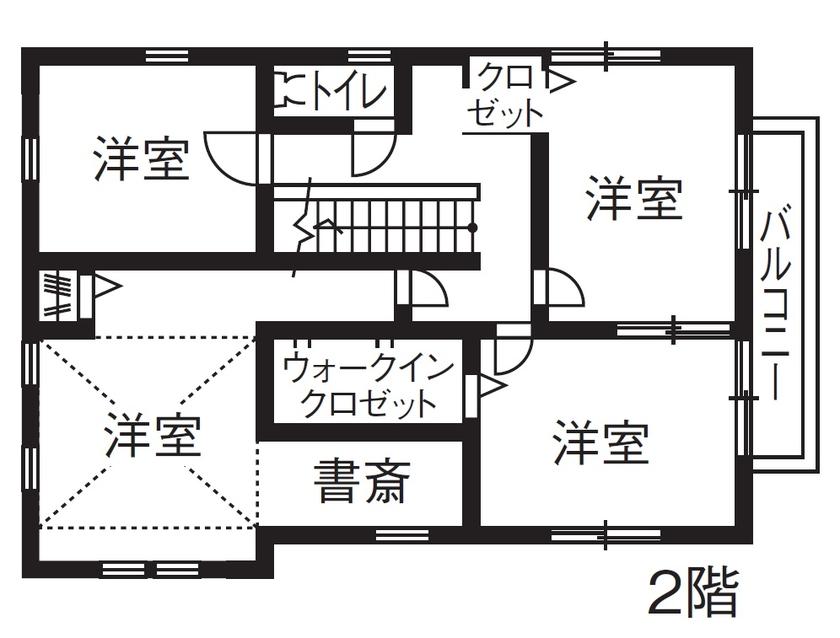 【1000万円台/間取図】レトロとモダンが調和。お気に入りのインテリアで仕上げる本格輸入住宅画像5