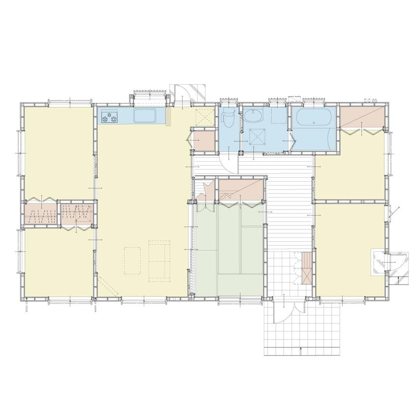 5LDKのバリアフリーの平屋住宅画像4