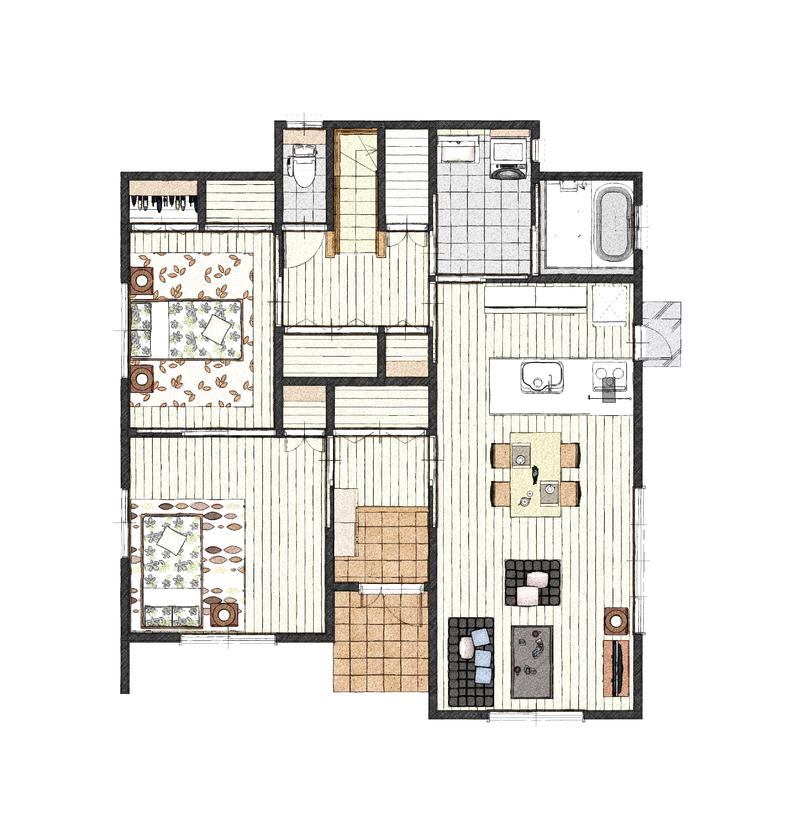 ブラーボコンフォート仕様の二世帯住宅画像4