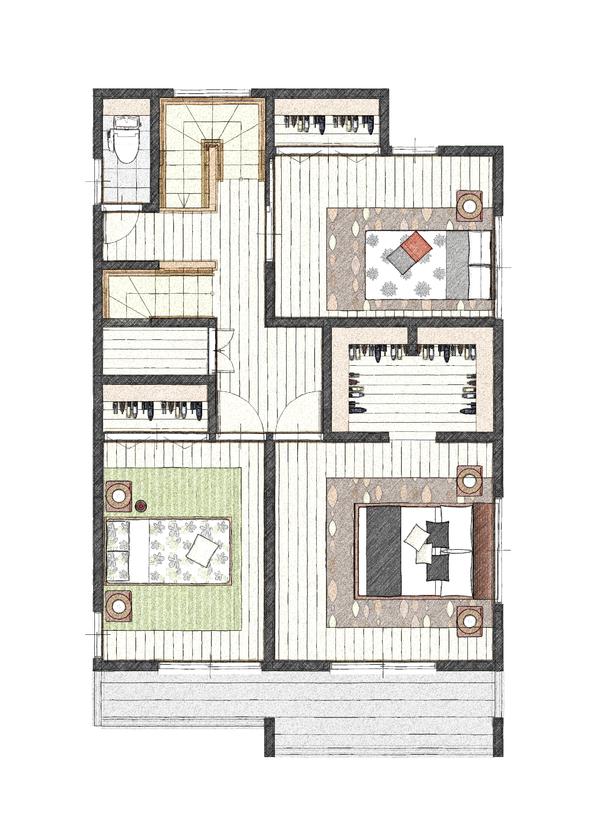 ブラーボコンフォート仕様の二世帯住宅画像5
