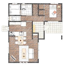 純和風デザインの住宅に建て替え!旅館イメージのお部屋に設計画像4