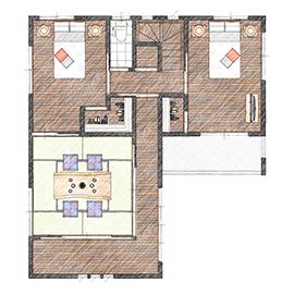 純和風デザインの住宅に建て替え!旅館イメージのお部屋に設計画像5
